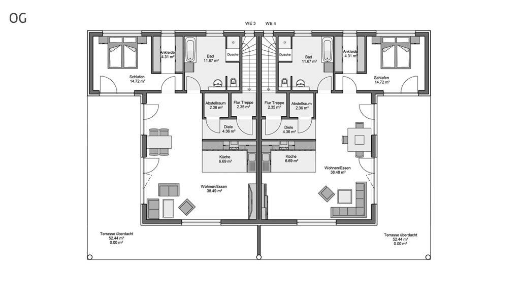 Compacta Mehrfamilienhaus Aller Obergeschoss
