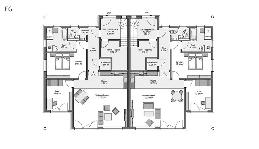 Compacta Mehrfamilienhaus Aller Erdgeschoss